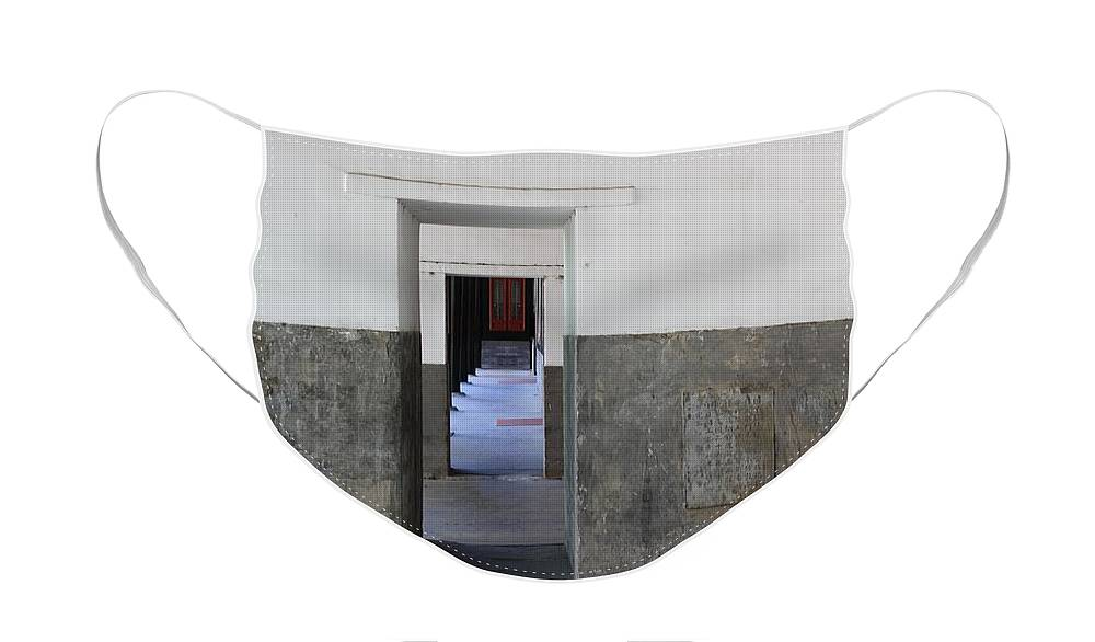 Temple Doors Face Mask featuring the photograph Simplicity by Carol Groenen
