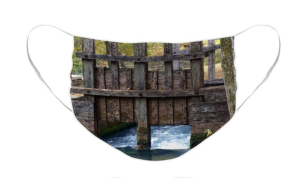 Alley Spring Face Mask featuring the photograph Sluce Gate by Marty Koch