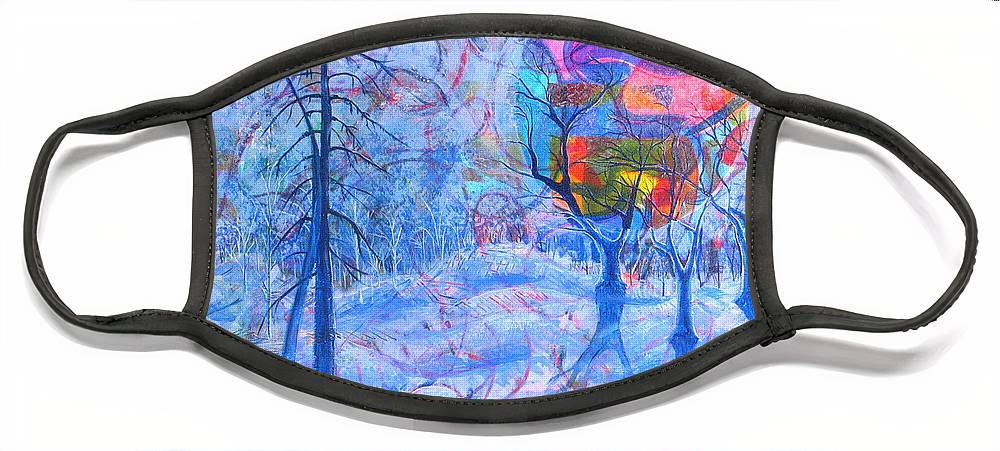 Winter Face Mask featuring the painting Solstice by Rollin Kocsis