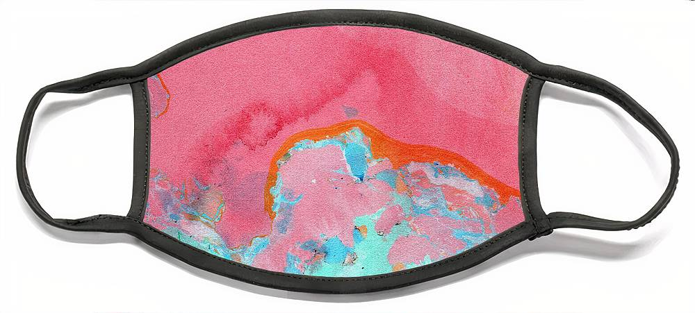 Abstract Face Mask featuring the painting Somewhere New- Abstract Art by Linda Woods by Linda Woods
