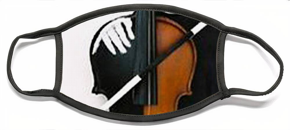 Violin Face Mask featuring the sculpture Soul Of Music by Steve Karol