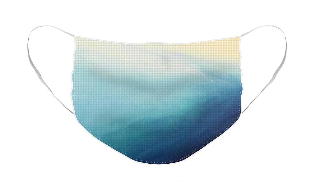 Sea Face Mask featuring the painting South Coast 2 by Jennifer Webb