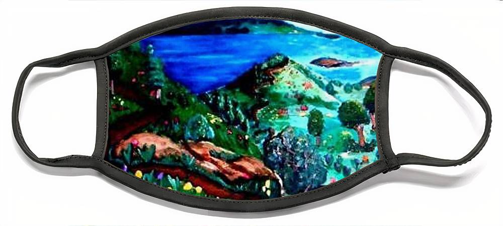 Landscape Face Mask featuring the painting Special Land by Andrew Johnson