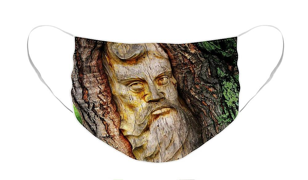 North America Face Mask featuring the photograph Spirit of the Forest ... by Juergen Weiss