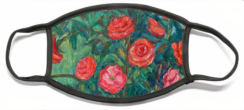 Rose Face Mask featuring the painting Spring Roses by Kendall Kessler