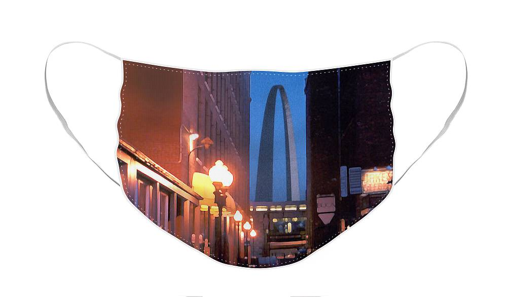St. Louis Face Mask featuring the photograph St. Louis Arch by Steve Karol