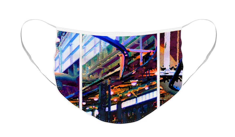 Abstract Face Mask featuring the photograph Star factory by Steve Karol