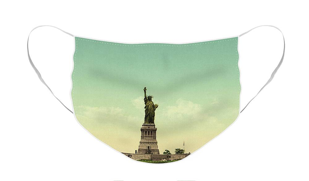 Statue Of Liberty Face Mask featuring the photograph Statue of Liberty, New York Harbor by Unknown