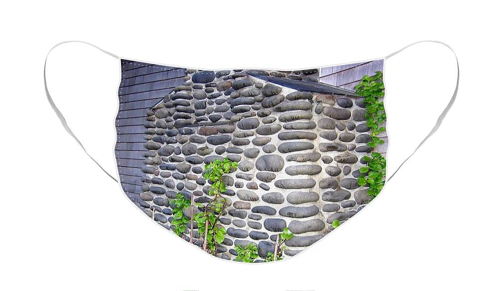 Chimney Face Mask featuring the photograph Stone Chimney by Will Borden
