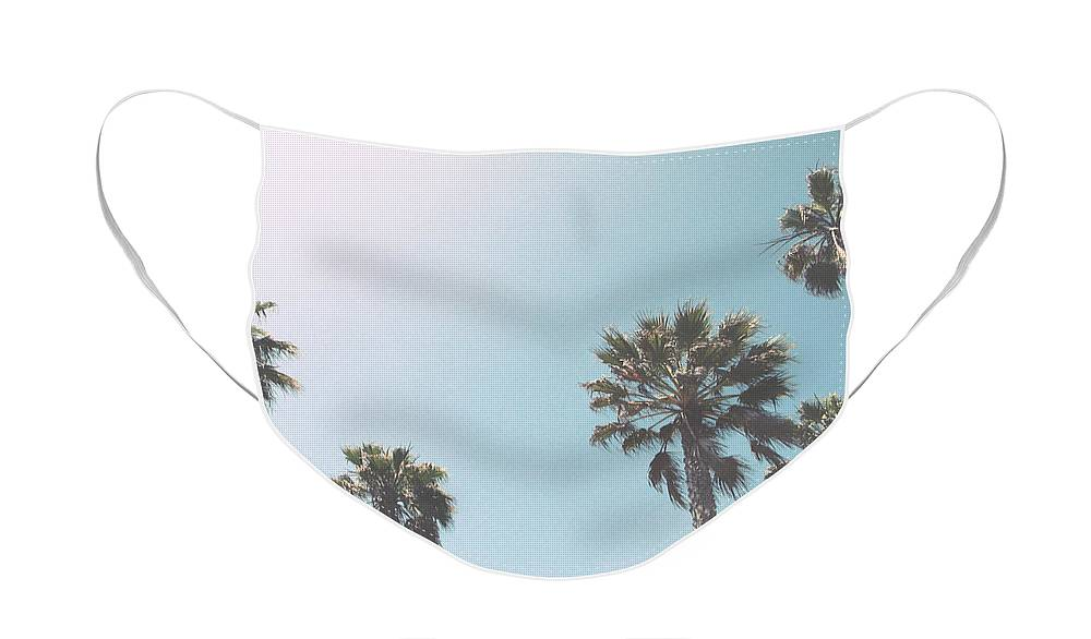 Palm Trees Face Mask featuring the photograph Summer Sky- by Linda Woods by Linda Woods