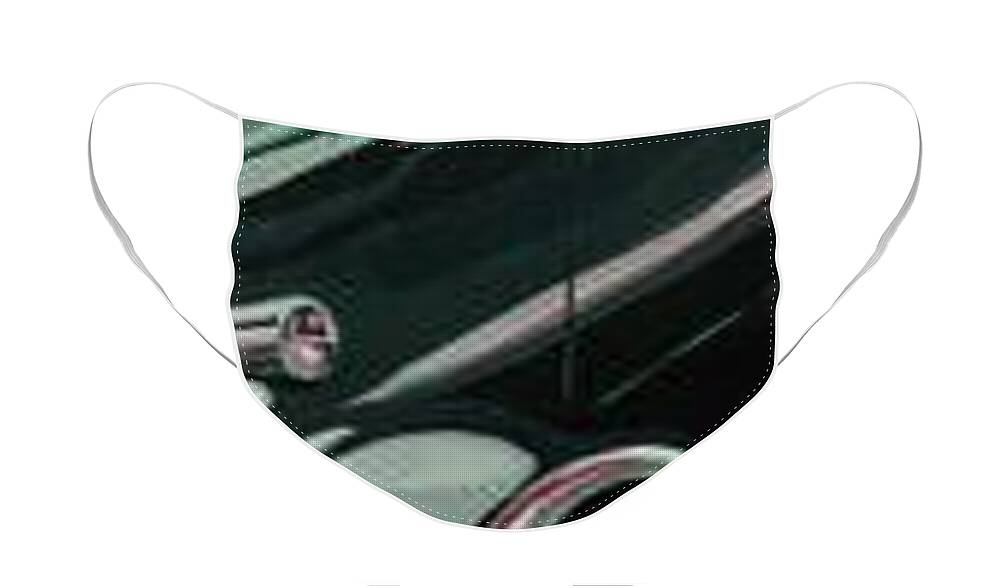 Vintage Cars Face Mask featuring the painting Sunday Drive by Sandy Tracey
