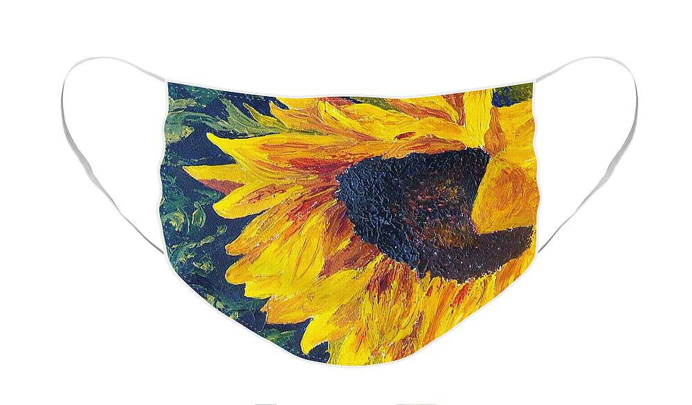 Face Mask featuring the painting Sunflower by Tami Booher