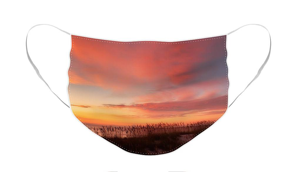 Beach Face Mask featuring the photograph Sunrise on the Atlantic Ocean by Rich Leighton