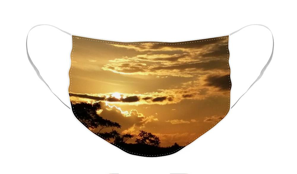 Sunrise Face Mask featuring the photograph Sunrise Over Fort Salonga5 by Rob Hans