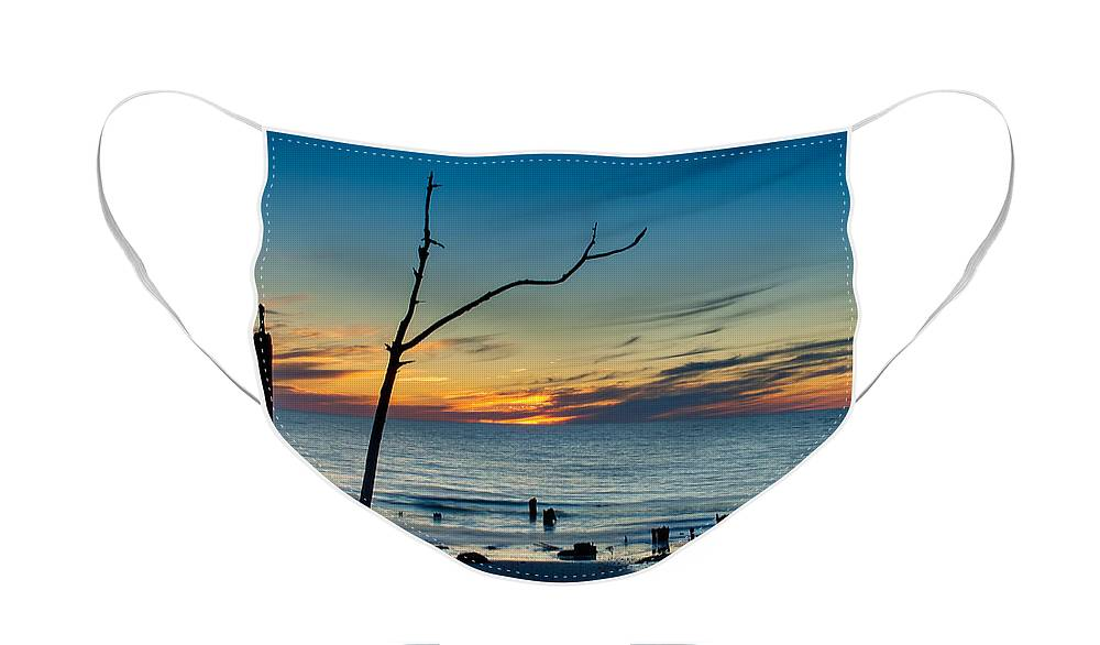 Sun Face Mask featuring the photograph Sunset on the Gulf of Mexico by Rich Leighton