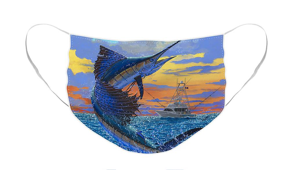 Sailfish Face Mask featuring the painting Sweet Release by Carey Chen