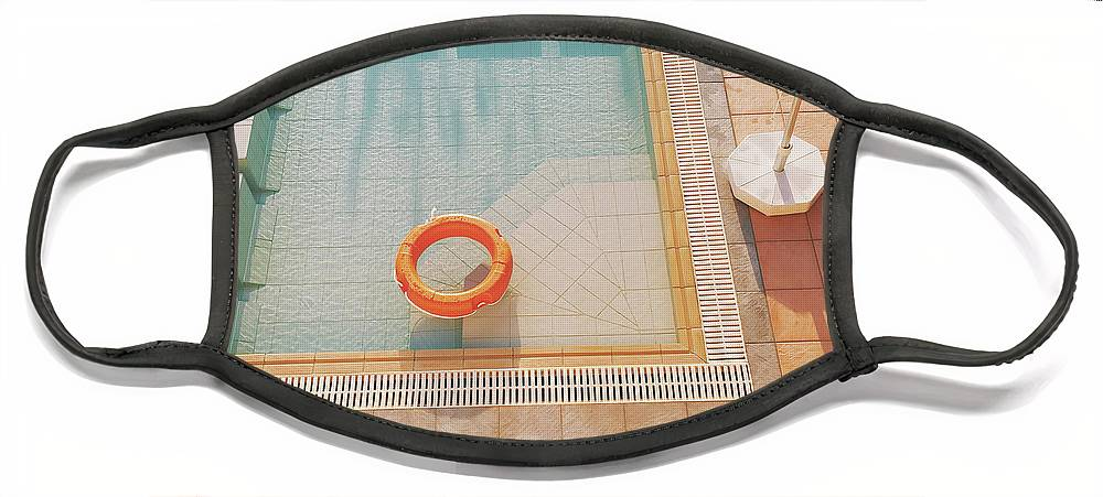 Water Face Mask featuring the photograph Swimming Pool by Cassia Beck