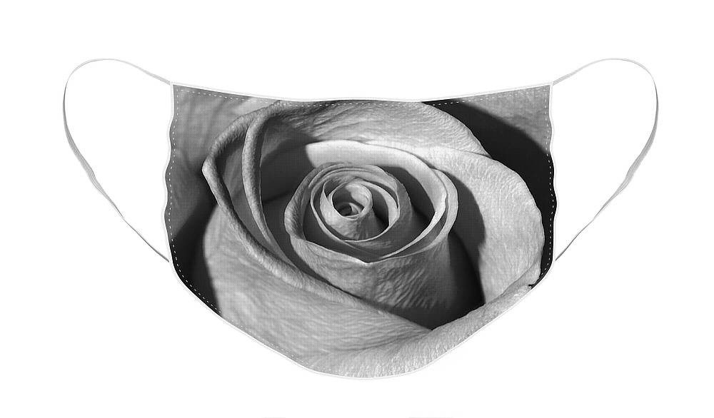 Diane Berry Face Mask featuring the photograph Swirl Black and White by Diane E Berry
