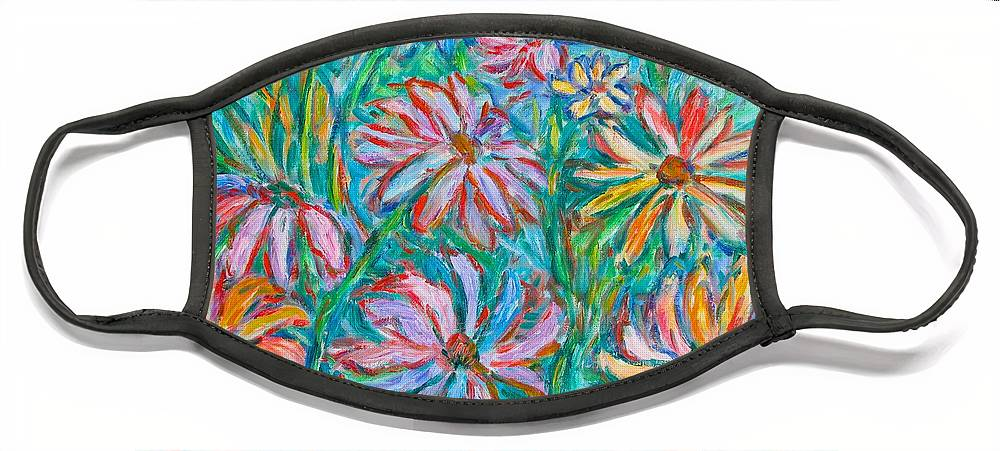 Impressionist Face Mask featuring the painting Swirling Color by Kendall Kessler