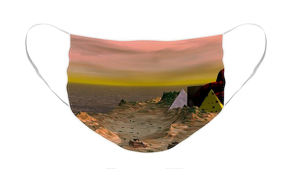 Peninsula Face Mask featuring the digital art Taking the Peninsula by Ron Bissett