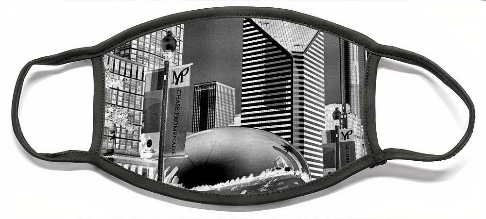 The Bean Face Mask featuring the photograph The Bean - 2 by Ely Arsha