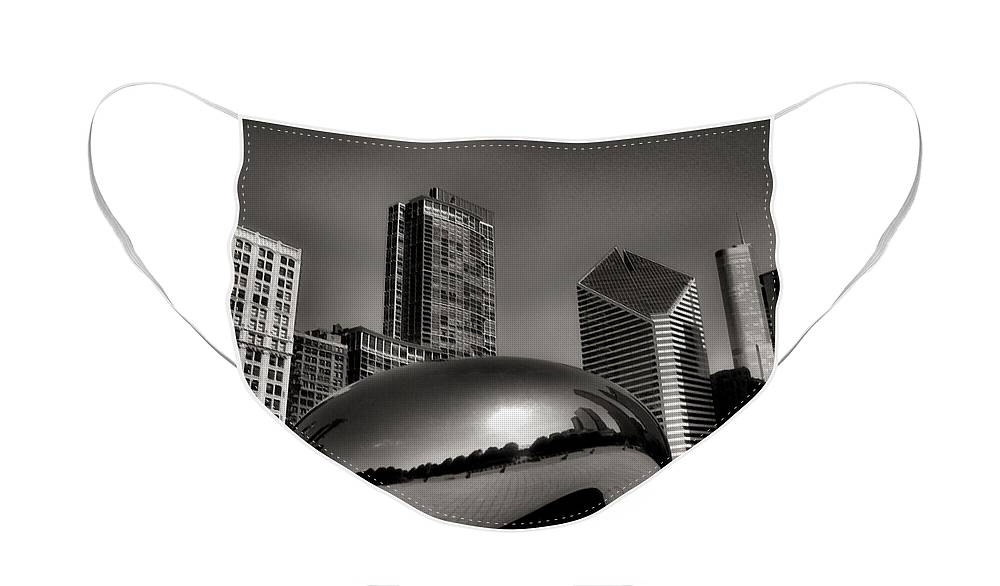 Chicago Architecture Face Mask featuring the photograph The Bean - 4 by Ely Arsha