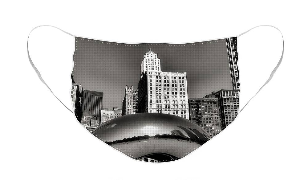 Chicago Architecture Face Mask featuring the photograph The Bean - 3 by Ely Arsha