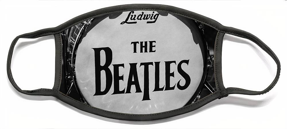 The Beatles Drum Face Mask featuring the photograph The Beatles Drum by Dan Sproul