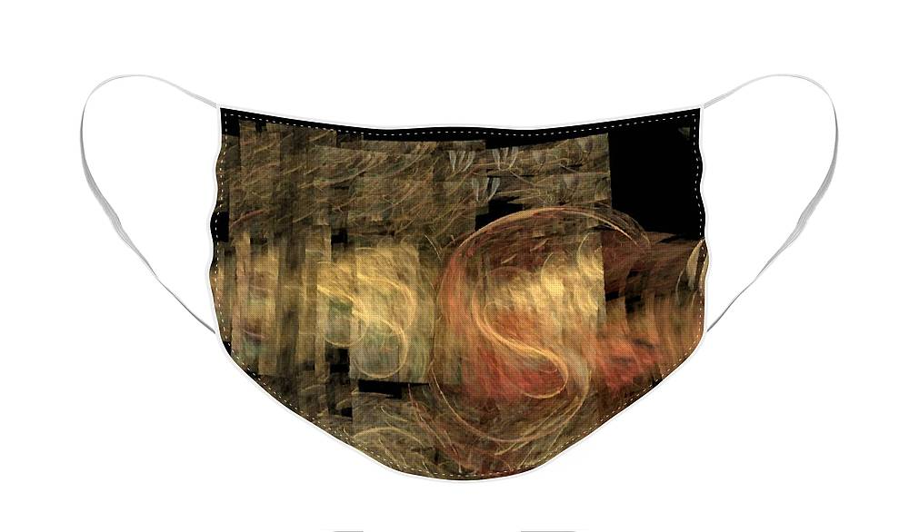 Abstract Face Mask featuring the digital art The Crooked Road by Nirvana Blues