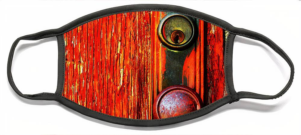 Door Face Mask featuring the photograph The Door Handle by Tara Turner
