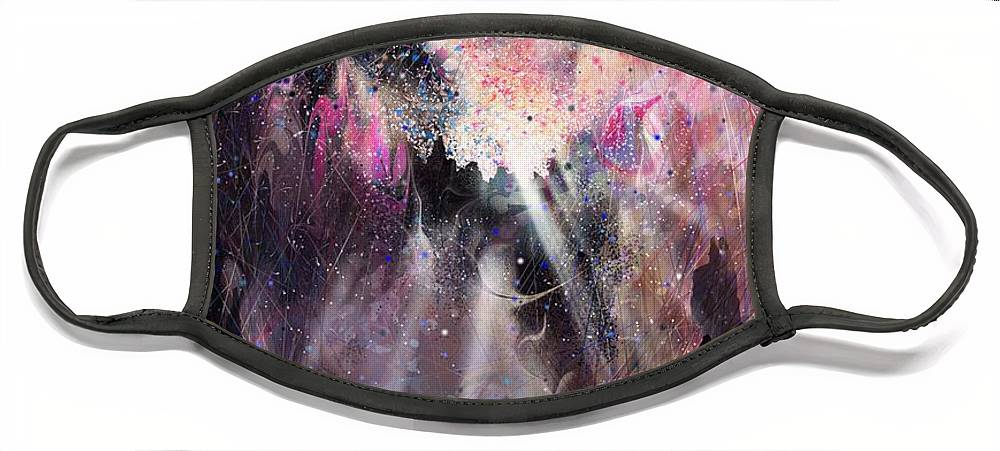 Landscape Face Mask featuring the digital art The Gift by William Russell Nowicki