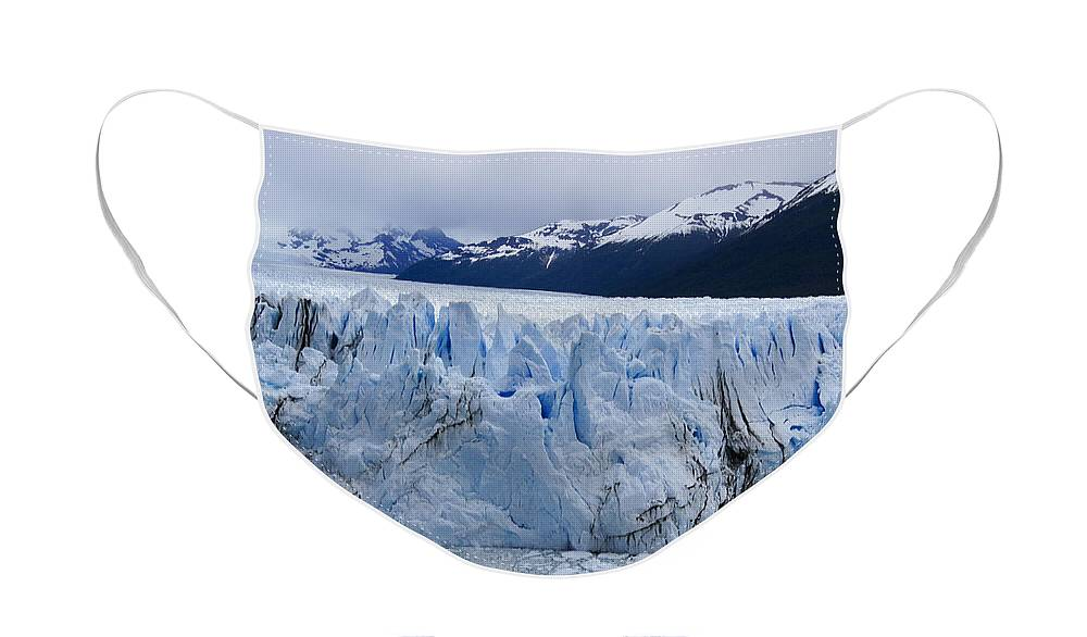 Argentina Face Mask featuring the photograph The Glacier Advances by Michele Burgess