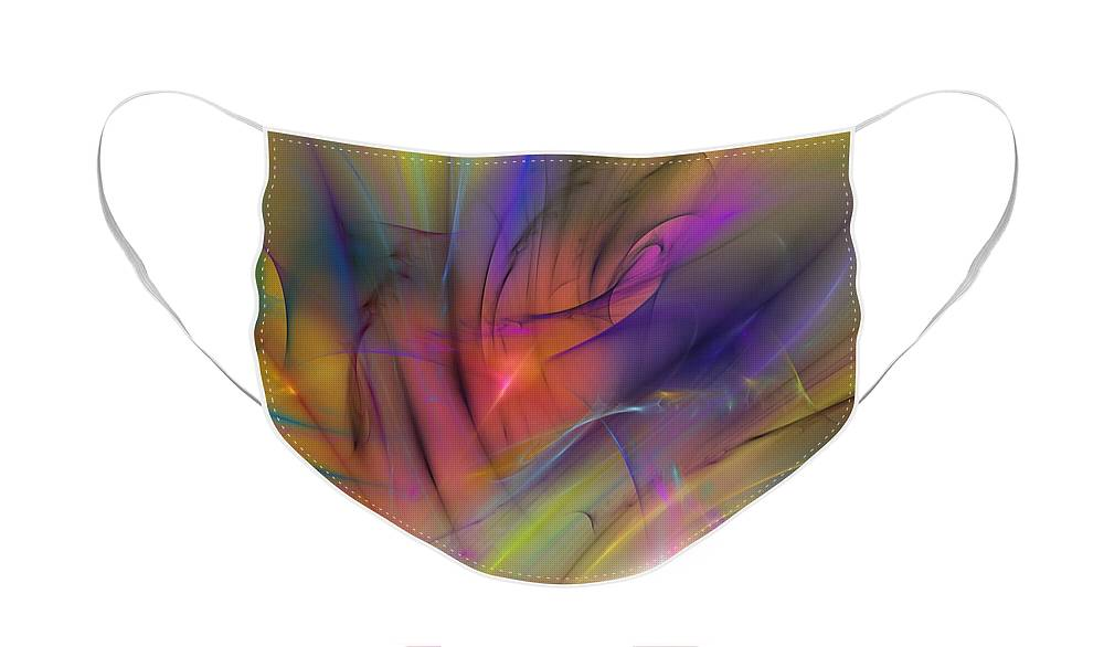 Abstract Face Mask featuring the digital art The Gloaming by David Lane