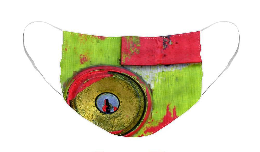 Green Face Mask featuring the photograph The Green and Red Door by Tara Turner
