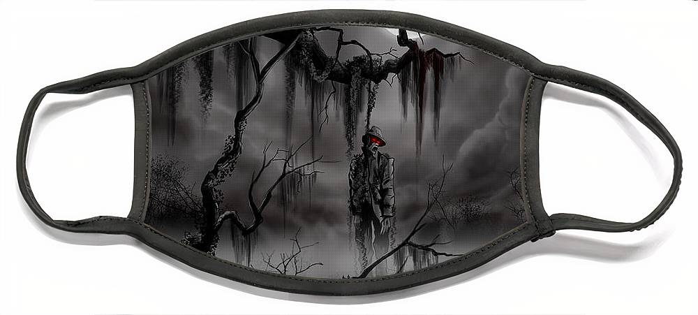 Nightmare Face Mask featuring the painting The Hangman by James Christopher Hill