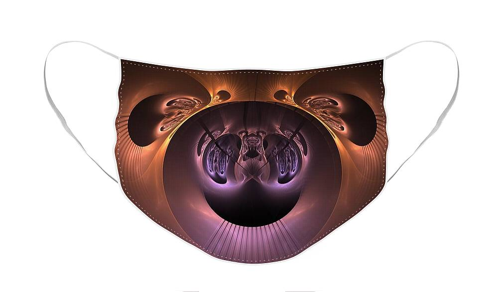 Fractal Face Mask featuring the digital art The Haunted Mirror by Lyle Hatch