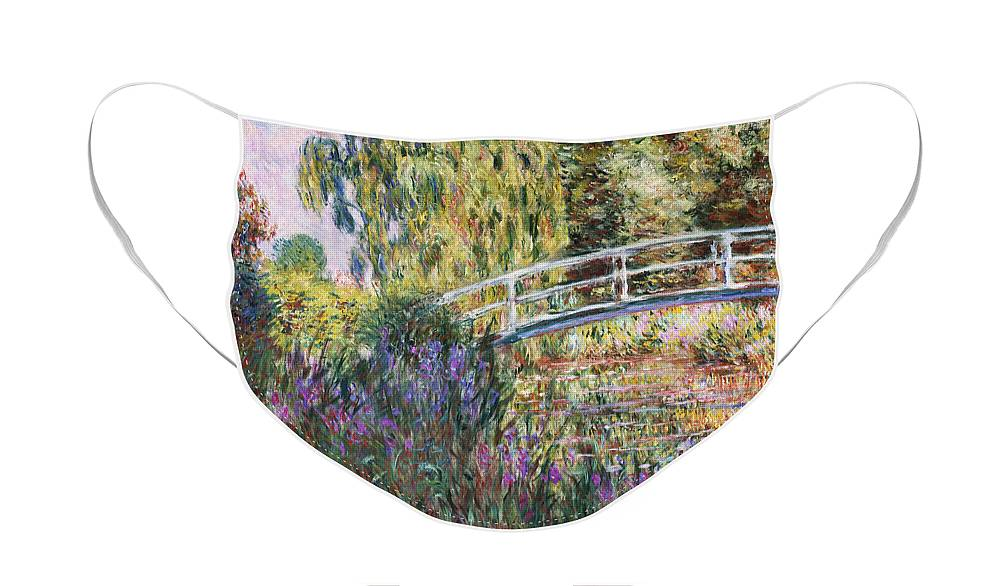 The Japanese Bridge Face Mask featuring the painting The Japanese Bridge by Claude Monet