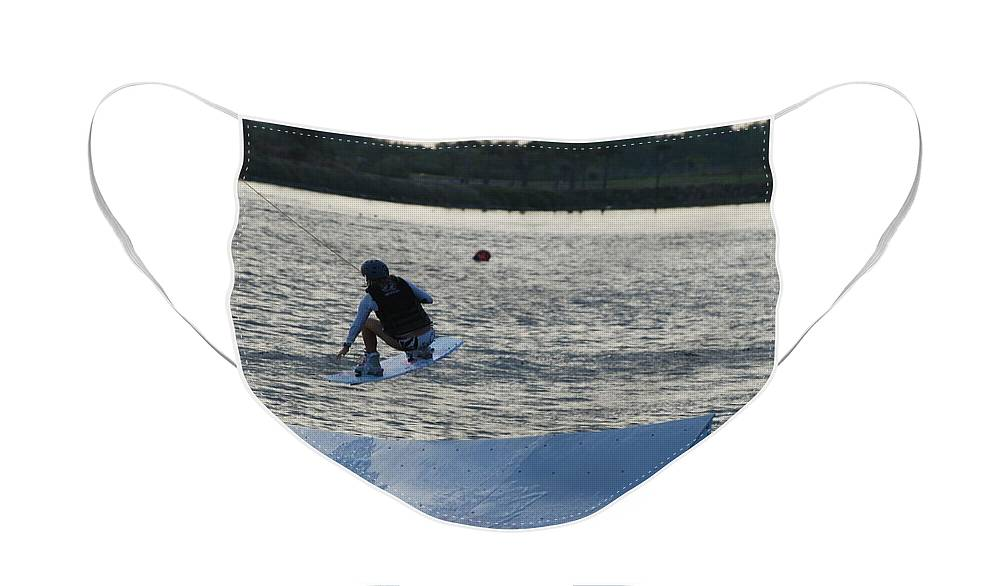 Water Face Mask featuring the photograph The Jump by Rob Hans