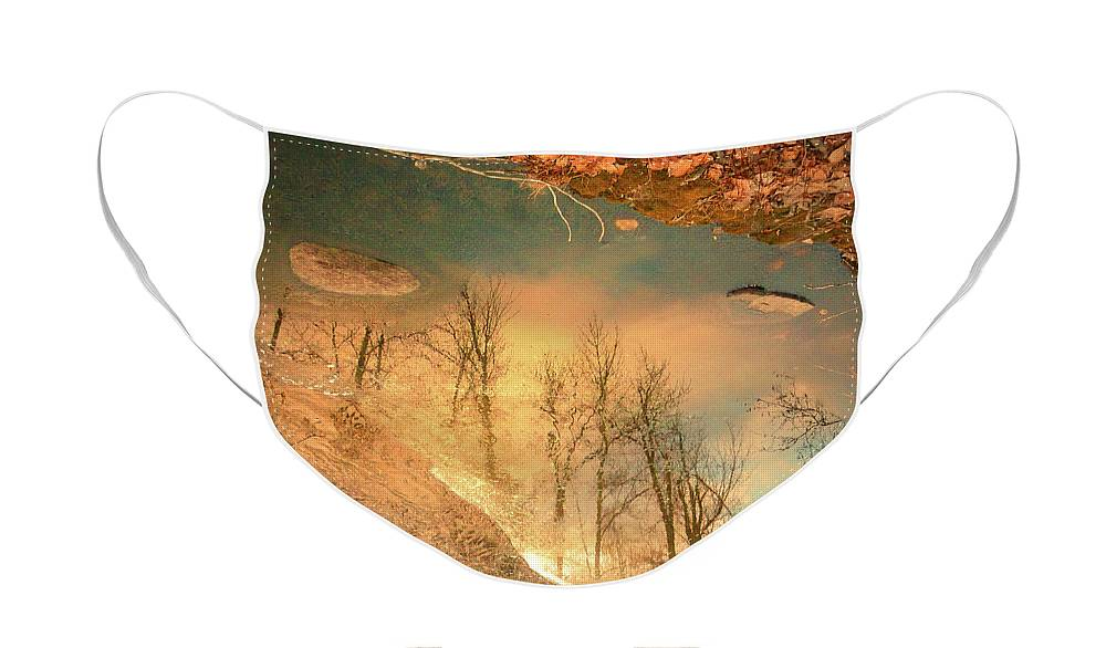 Ice Face Mask featuring the photograph The Movement of Ice 2 by Tara Turner