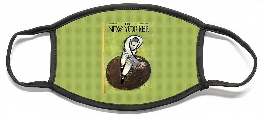 New Yorker April 13th, 1957 Face Mask