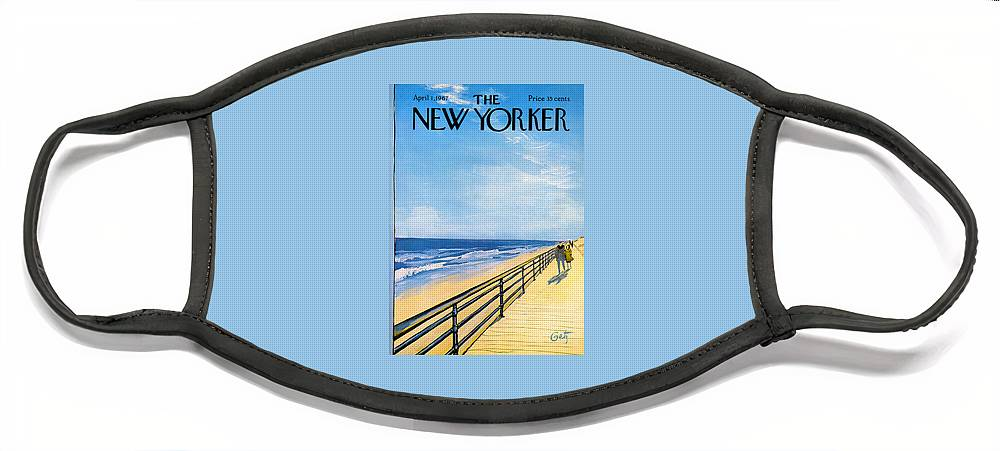 The New Yorker Cover - April 1st, 1967 Face Mask