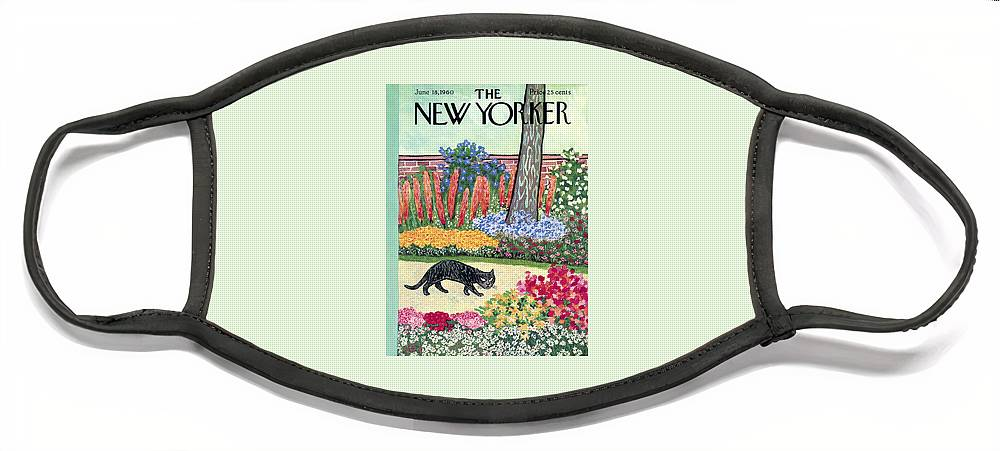 New Yorker Cover - June 18, 1960 Face Mask