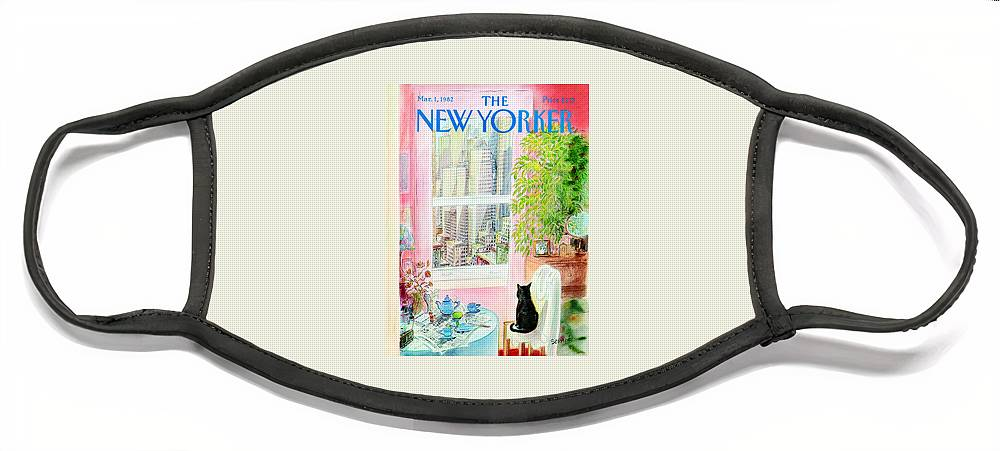 New Yorker March 1, 1982 Face Mask