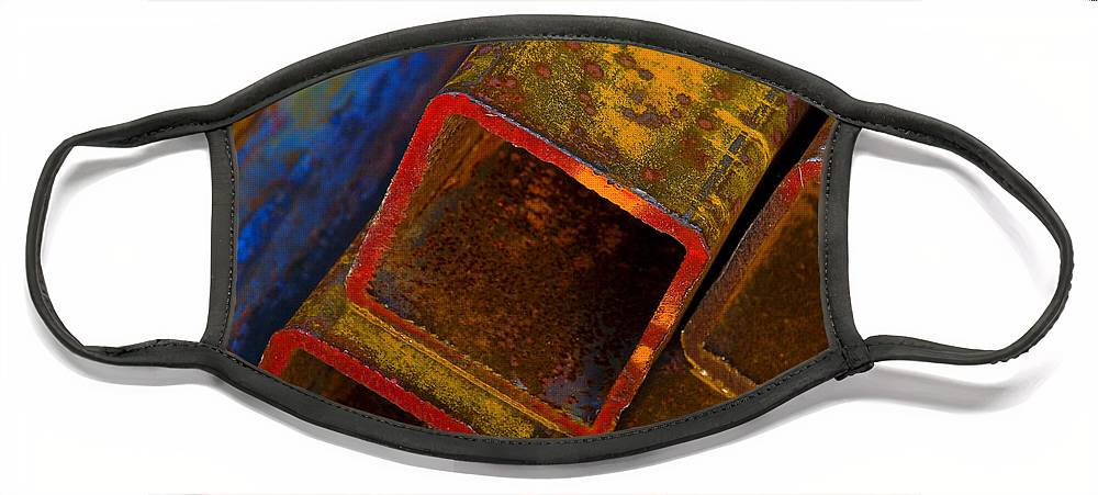 Abstract Face Mask featuring the photograph The River by Skip Hunt