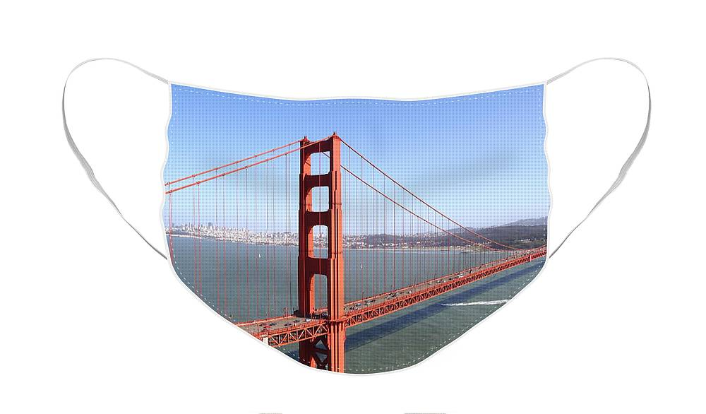Wingsdomain Face Mask featuring the photograph The San Francisco Golden Gate Bridge 7D14507 by Wingsdomain Art and Photography