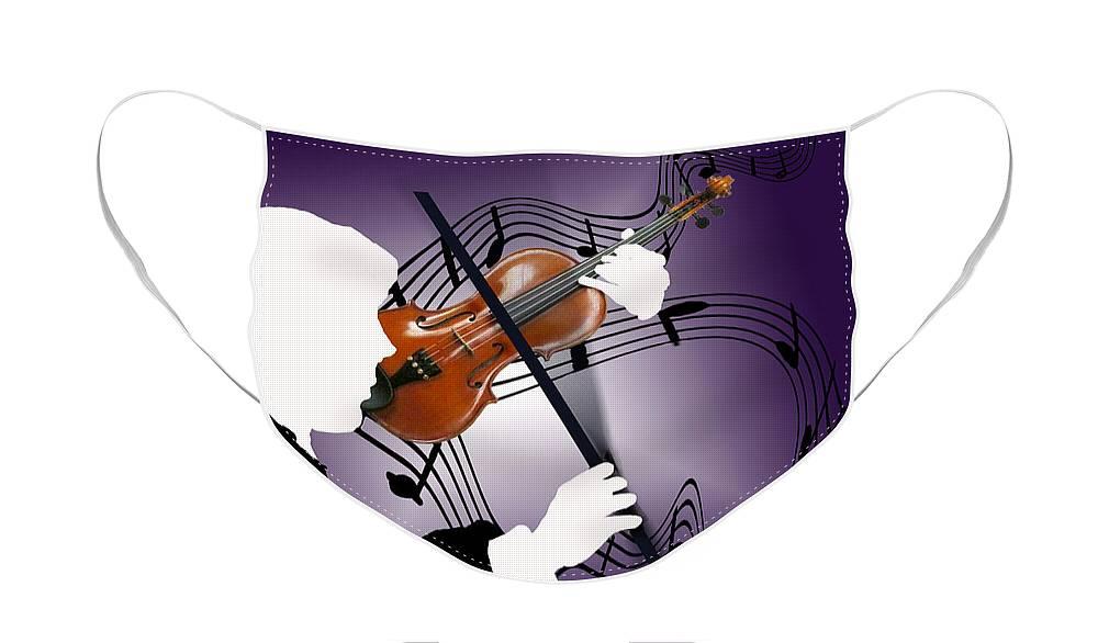 Violin Face Mask featuring the digital art The Soloist by Steve Karol