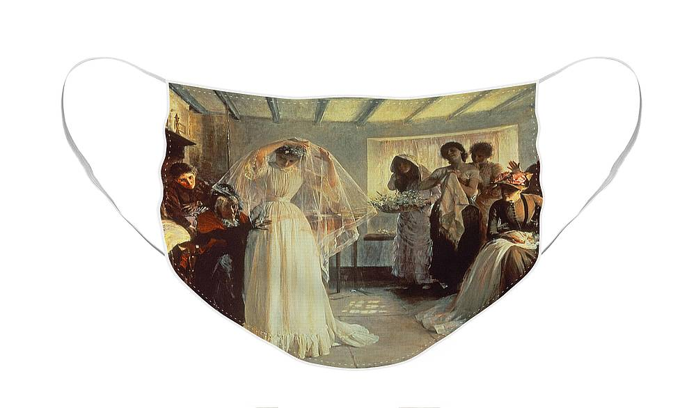 Wedding Morning Face Mask featuring the painting The Wedding Morning by John Henry Frederick Bacon