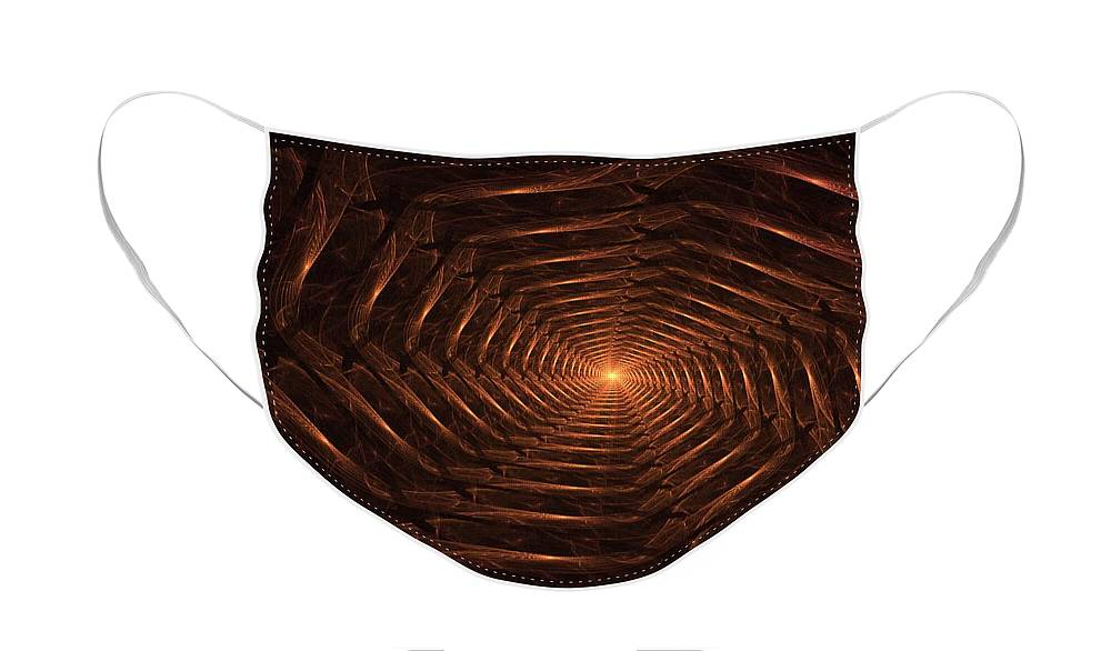 Fantasy Face Mask featuring the digital art There is Light at the End of the Tunnel by David Lane