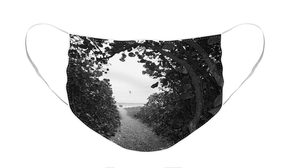 Black And White Face Mask featuring the photograph Through The Looking Glass by Rob Hans