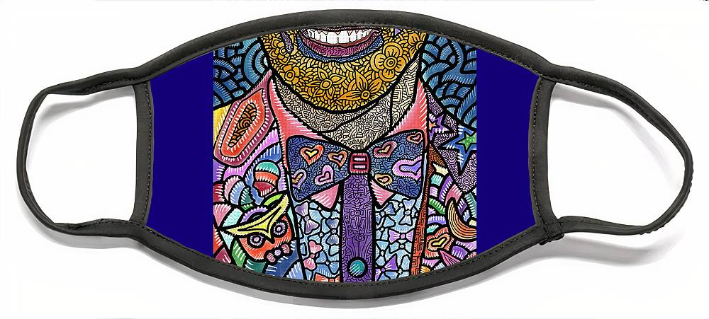 Jessie Tyler Ferguson Face Mask featuring the digital art Tie the Knot for Equality by Marconi Calindas